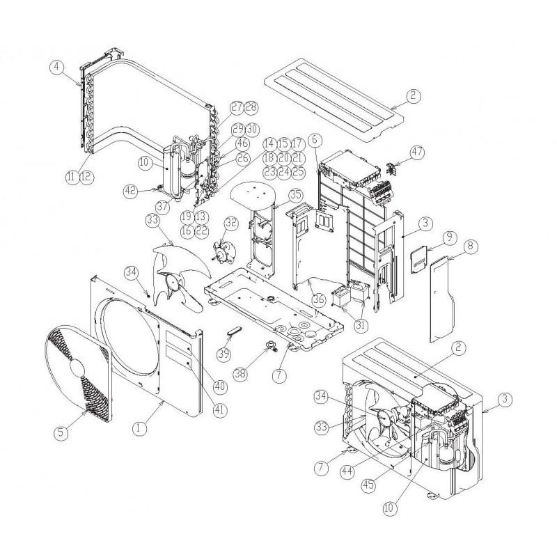 compresseur climatisation r u00e9versible inverter ras10eavp