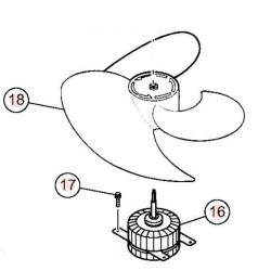 Hélice ventilateur HITACHI...