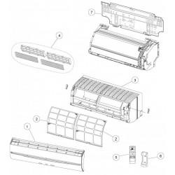 support t l commande climatisation r versible inverter. Black Bedroom Furniture Sets. Home Design Ideas